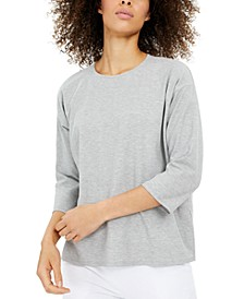 Ribbed 3/4-Sleeve Top