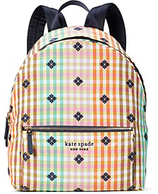 The Bella Plaid City Backpack