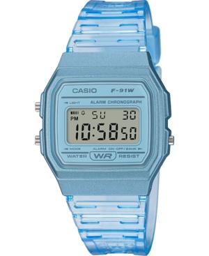 Unisex Digital Blue Jelly Strap Watch 35.2mm