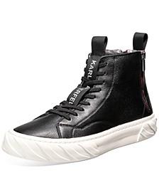 Men's Double Back Zip High-Top Sneakers