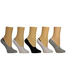 Women's Solid Foot Liner Socks, Pack of 5