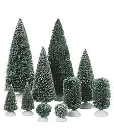 Set of 10 Bag-O-Frosted Topiaries
