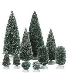 Department 56 Set of 10 Bag-O-Frosted Topiaries