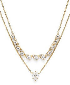 "Cubic Zirconia Layered Necklace, 17"" + 2"" extender, Created for Macy's"