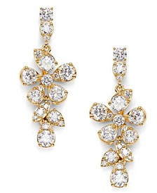 Cubic Zirconia Floral Drop Earrings, Created for Macy's