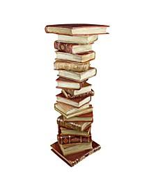 Power of Books Sculptural Pedestal Column