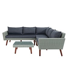 Albany All-Weather Wicker Outdoor Corner Sectional Sofa Set