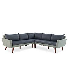 Albany All-Weather Wicker Outdoor Corner Sectional Sofa