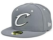 Cleveland Cavaliers Storm Black White Logo 59FIFTY Cap