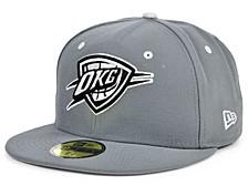 Oklahoma City Thunder Storm Black White Logo 59FIFTY Cap
