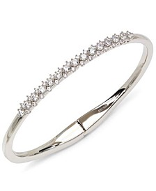 Silver-Tone Cubic Zirconia Lace Bangle Bracelet, Created for Macy's