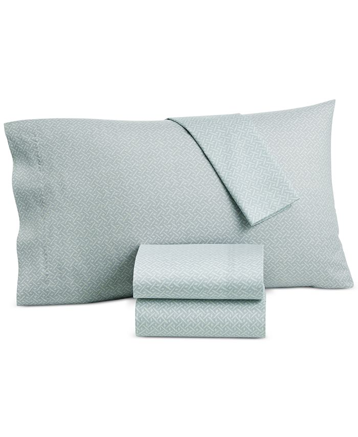 Lucky Brand - Baja Stripe Cotton 230-Thread Count 4-Pc. King Sheet Set
