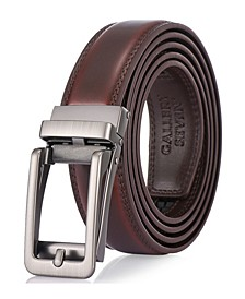 Men's Adjustable Leather Ratchet Belt