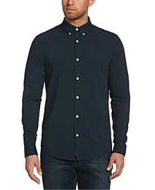 Men's Poplin Button Down Shirt with Stretch