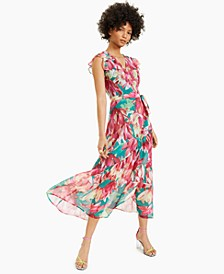 Floral-Print Wrap Dress, Created for Macy's