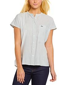 Pinstriped Basic Woven Shirt