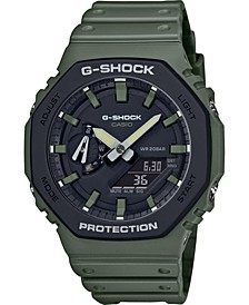 Men's Analog-Digital Green Resin Strap Watch 45.4mm
