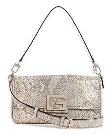 Brightside Python Shoulder Bag