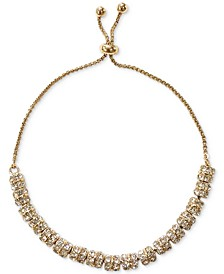 INC Gold Pavé Rondelle Beaded Slider Bracelet, Created for Macy's