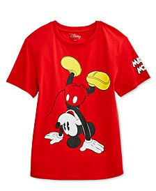 Juniors' Mickey Handstand Graphic T-Shirt