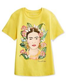 Juniors' Watercolor Frida T-Shirt