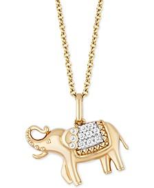 Enchanted Disney Diamond Jasmine Elephant Pendant Necklace (1/10 ct. t.w.) in 14k Gold