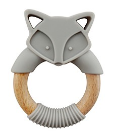 Tiny Teether Baby Designs Silicone and Beech Teether