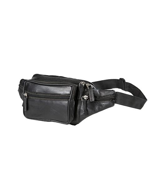 CHAMPS Genuine Leather Waist Pack
