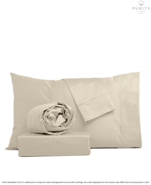 Purity Home 1000 Thread Count Cvc Cotton Sheets Set, King Bedding