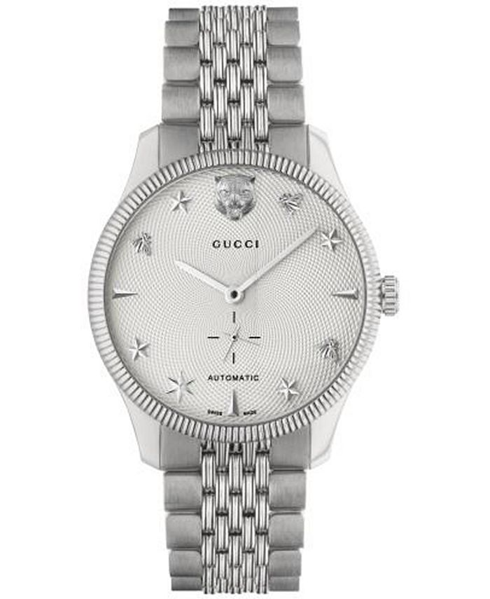 Gucci - Men's Swiss Automatic G-Timeless Stainless Steel Bracelet Watch 40mm