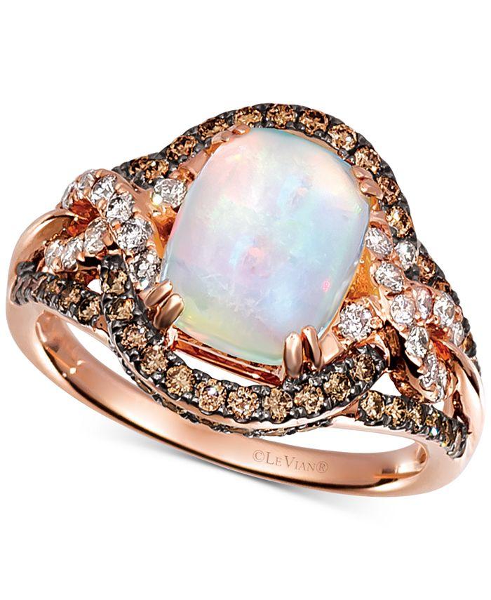 Le Vian - Neopolitan Opal (1-3/8 ct. t.w.) & Diamond (7/8 ct. t.w.) Ring in 14k Rose Gold