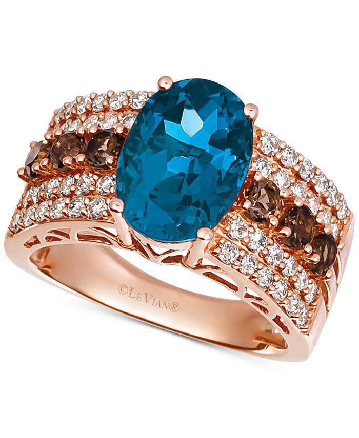Le Vian - Multi-Gemstone (4-1/4 ct. t.w.) & Diamond (5/8 ct. t.w.) Ring in 14k Rose Gold