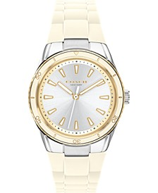 Women's Preston White Silicone Strap Watch 32mm