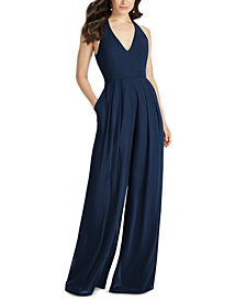 Dessy Collection V-Neck Wide-Leg Jumpsuit