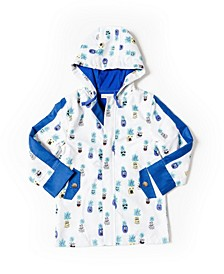 Toddler Boys Printed Microfiber Parka Jacket