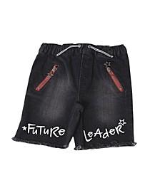 Toddler Boys Denim Shorts with Raw Hem Shorts