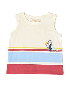 Toddler Boys Toucan Stripe Sleeveless Tank Top