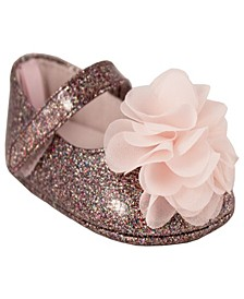Baby Girls Shimmer Skimmer with Chiffon Flower
