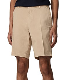 BOSS Men's Light Beige Slice-Shorts