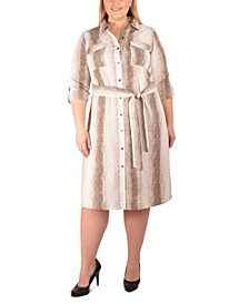 Plus Size Printed Shirtdress