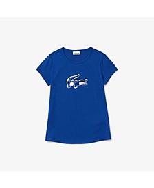 Toddler and Little Girls Short Sleeve Round Neck T-Shirt