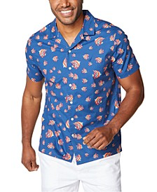 Men's Classic-Fit Nautical-Print Camp Shirt