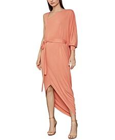 Asymmetrical One-Sleeve Knit Dress