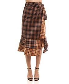 Sophia Plaid Midi Skirt