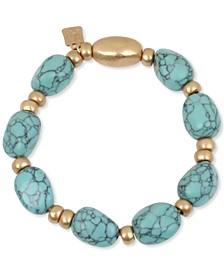 Gold-Tone Stone Beaded Stretch Bracelet
