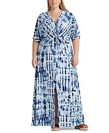 Plus Size Linen Maxidress
