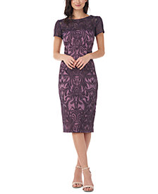 JS Collections Embroidered Sheath Dress
