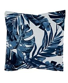 "Tropical Leaf Indoor/Outdoor Decorative Pillow, 17"" x 17"""