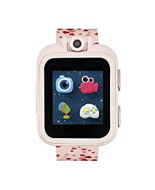 PlayZoom Blush Smartwatch for Kids with Hearts Print 42mm