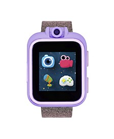 PlayZoom Pink and Purple Smartwatch for Kids Glitter Print 42mm